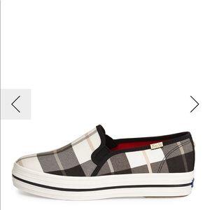 ISO: Keds x Kate Spade plaid slip on sneakers